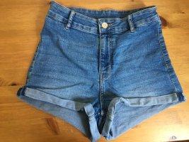 H&M Divided Jeans a vita alta blu fiordaliso-azzurro