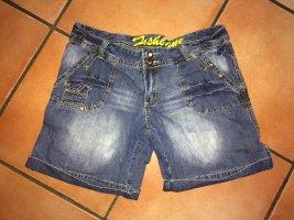 Fishbone Denim Shorts multicolored