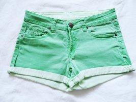 Jeans Shorts grün basic mit Taschen