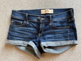 Hollister Short en jean bleu foncé-brun sable
