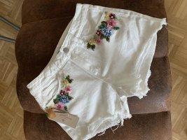 Chiaccio Limone Short en jean multicolore coton