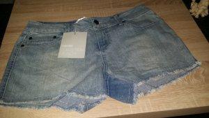 3 Suisses Pantalón corto de tela vaquera gris pizarra