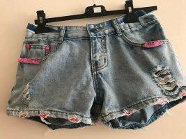 Madonna Pantaloncino di jeans multicolore Cotone