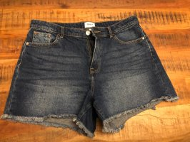 Only High-Waist-Shorts dark blue