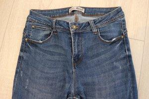 Jeans, Used Look, Denim & Co. , Größe 40, Länge 32, dunkelblau