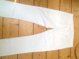 7 For All Mankind Jeansy z prostymi nogawkami biały Bawełna