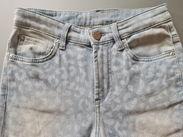 Claudia Sträter Tube Jeans azure-natural white cotton