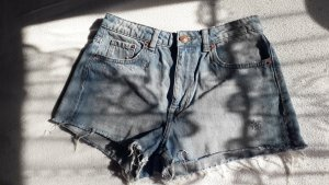 H&M ANGORA BLEND Jeansowe szorty Wielokolorowy