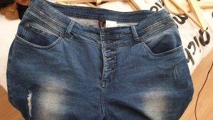 Rainbow High Waist Jeans blue-dark blue cotton