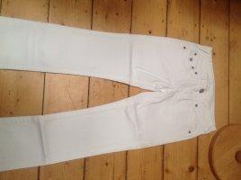True Religion Jeansy z prostymi nogawkami biały Bawełna