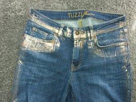 Tuzzi Stretch jeans brons-donkerblauw