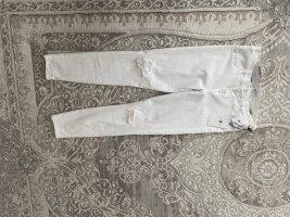 7 For All Mankind Jeansy o obcisłym kroju biały Bawełna