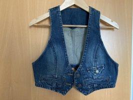 Gilet en jean bleu acier