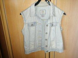 C&A Clockhouse Jeansowa kamizelka błękitny-biały Bawełna