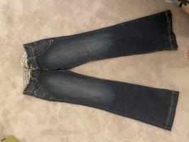 Zara Jeans flare bleu foncé
