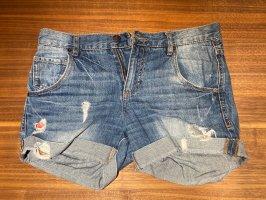 Jeansahorts in used-optik