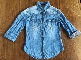 Forever 18 Chemise en jean bleu azur