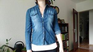 Esmara Blouse en jean multicolore