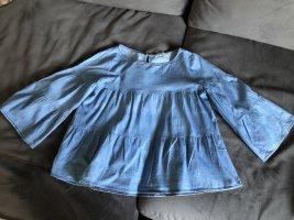 Laria Silvestri Blouse en jean bleuet