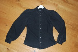 Only Blouse en jean gris anthracite-noir tissu mixte