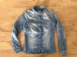 Only Blouse en jean bleu acier