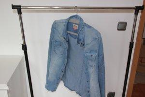 Only Blouse en jean bleuet