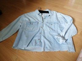 Pull & Bear Blouse en jean bleu clair