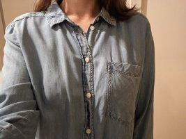 H&M Bluzka jeansowa jasnoniebieski-błękitny