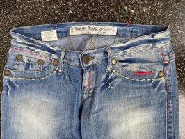 Take Two Jeans vita bassa blu