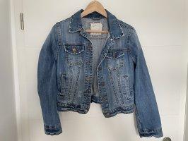 Denim Co. Jeansowa kurtka niebieski-brąz