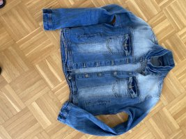 B.young Jeansowa kurtka stalowy niebieski Bawełna