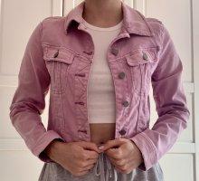 Jeansjacke in ausgewaschenem Lilaton