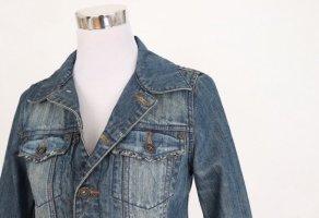 Jeansjacke mit Perlen