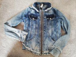 Tredy Denim Jacket silver-colored-blue