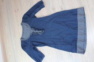 Jeansowa sukienka szary niebieski-ciemnoniebieski Bawełna