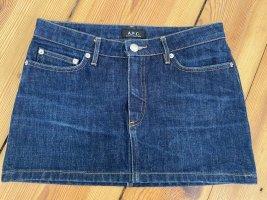 A.P.C. Jeansowa spódnica niebieski Bawełna