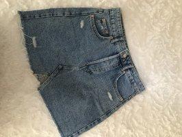 Bershka Gonna di jeans azzurro-blu acciaio