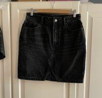 All Saints Jupe en jeans noir-gris anthracite