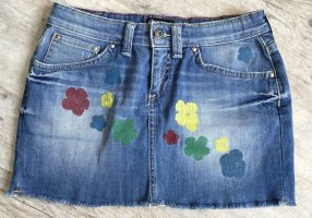 Andy Warhol by Pepe Jeans London Denim Skirt cornflower blue cotton
