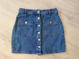 Pull & Bear Jeansy z wysokim stanem szary niebieski
