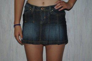 Jeansrock Minirock Rock Denim Skirt kurz Sommer XS 34 Neu Blogger Faltenrock 26 27 Paris Modestadt