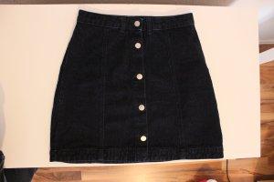 armedangels Jupe en jeans bleu foncé coton