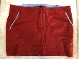 Patrizia Pepe Jeansowa spódnica ceglasty-czerwony
