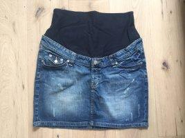 H&M Mama Jupe en jeans bleu foncé-bleu