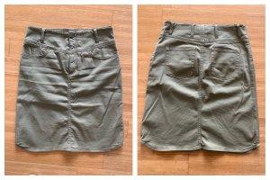 Set Denim Skirt khaki