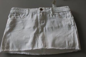 Jeansrock von Zara, Weiß, XS