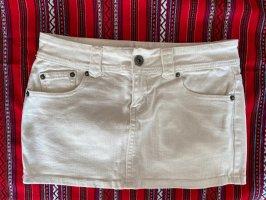 Fishbone Spijkerrok wit