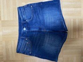 Spodnie z wysokim stanem stalowy niebieski-niebieski