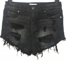 Oasis Jeansowe szorty czarny-biały