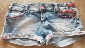 Simply Chic Pantaloncino di jeans fucsia neon-azzurro